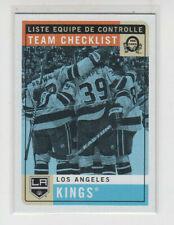 17/18 OPC Los Angeles Kings Team Checklist Blank Back card SP