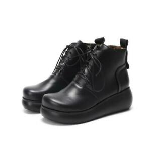 Europe Women Office Work OL Lace Ups Casual 41/42/43 Ankle Boots Outdoor Comfy D