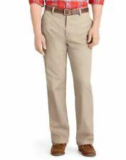 Izod Pants Men's Khaki 34 x 29 Straight Fit Flat Front New