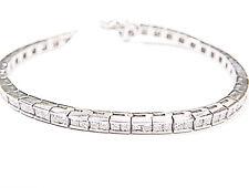 86 PRINCESS CUT DIAMONDS CHANNEL SET TENNIS BRACELET DIAMOND TENNIS BRACELET