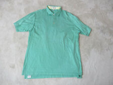 Peter Millar Golf Polo Shirt Size Adult Extra Large Green White Striped Rugby