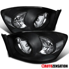 2006-2008 Dodge Ram 1500 2006-2009 Ram 2500/3500 Pair Black Clear Headlights