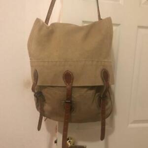 RRL DOUBLE RL SUPPLY Backpack Shoulder Bag Men Beige Brown Canvas From Japan