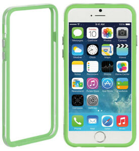 """NEW GREEN/CLEAR TPU BUMPER FRAME CASE SLIM COVER FOR APPLE iPHONE 6 (4.7"""")"""