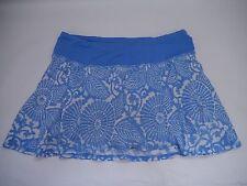 LULULEMON Run In The Sun porcelain blue beachy floral skirt size 4 WORN ONCE HTF