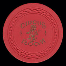 $5 Circus Room red, Lake Tahoe Zigzag mold, vintage 1952 classic old casino