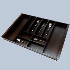 BESTECKEINSATZ Besteck Kasten Holz Wenge | Besteckkasten 710 x 458 x 54mm