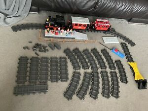 Vintage Playmobil RC Steam Train set 4019,4003 With Many Extras Fully Working