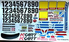 Tamkyo Decal, Kyosho Racing Kart 10 Sticker Set 1/10th