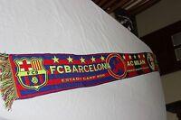 BUFANDA VINTAGE CHAMPIONS LEAGUE FC BARCELONA Y AC MILAN MUY ANTIGUA SCARF