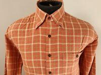 Scott Barber Mens Long Sleeve Button Front Shirt Size M Medium Plaid