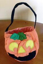 Pottery Barn Kids Halloween Pumpkin Treat Bag Orange - New Without Tags
