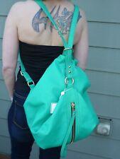 New Large Shiraleah Bright Jade Green Convertible Hobo Handbag/Backpack