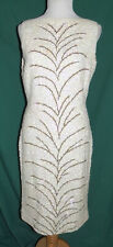 New listing Vintage 50s 60s White Sequin Wiggle Dress Wool Boutique Internationale B36