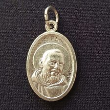 Saint Father Pio relic - Crucifix - Silver - Cross - Holy medal - Blessed