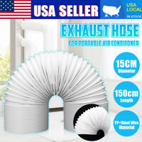 """Exhaust Hose Steel Wire For Portable Air Conditioner 6"""" Diameter 59"""" Vent"""