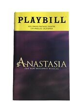 Anastasia Tour Playbill ~ Los Angeles Pantages Theatre October 2019