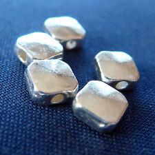 40 pz - Perline in argento tibetano - 5 x 5 mm