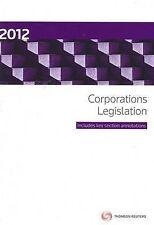 Corporations Legislation 2012 by Robert Baxt, Edmund Finnane (Paperback, 2012)