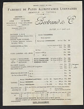 """LE HAVRE (76) USINE de PATE ALIMENTAIRE SEMOULE TAPIOCA """"BERTRAND & Cie"""" en 1916"""