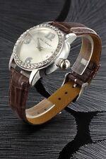 orologio donna bracciale in pelle Nele Fortados - molti strass -.design - n176