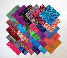 "BATIK Prints 5"" Squares, 100% cotton Prewashed , Quilt Block Fabric  (#D/80B)"