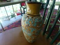 "Doulton Stoneware Vase 11"" Slater's Patent Chine Perfect"