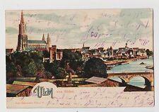 Ulm,Germany,Blick von Suden,Danube,Baden-Wurttemberg,Used,Ulm-Bahnhof,1904