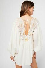 Free People NWT Sixe XS  Secret Garden Blouse Ivory NEW Top $168