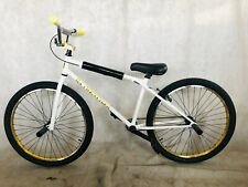 "2020 R4 26"" Complete BMX Bike Cruiser Bicycle W/ Stunt Pegs (White & Gold)"