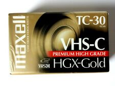 Maxell Camcorder Videocassette TC-30 VHS-C HGX-GOLD NEW SEALED