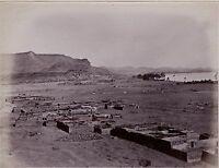 Egitto Nubia Foto Albumina Stampa Verso 1890 IN Piccolo Formato