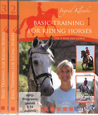 NEW 3 DVD SET TRAINING FOR RIDING HORSES Ingrid Klimke