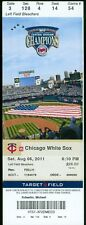 2011 Twins vs White Sox Ticket:  Brent Lillibridge Home Run/ Zach Stewart Win
