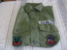 70s Era US Air Force Military Green Utility Shirt  OG 507 Size Tag Missing
