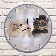 SPOSA E SPOSO gatti colore Design Vinile Record Orologio Da Parete Matrimonio Ufficio Negozio 1