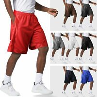 Mens Basketball Shorts Mesh Heavyweight Gym Pants Workout Training Athletic