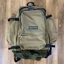Vintage OG Supreme 4th Ever Backpack Tan Camo 1998 Green Box Logo Bogo YKK RARE
