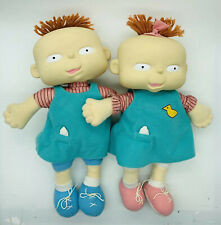 "Vintage Phil and Lil Baby Twins Rugrats Plush Doll 12"" Mattel 1998 Viacom Rare"