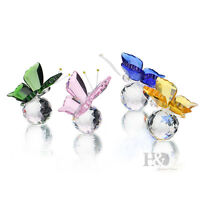 Crystal Butterfly Figurine Paperweight Wedding Favor Collectibles Gift Pack of 4