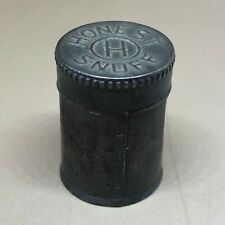 "Vintage Honest Snuff Tobacco Tin Round Metal 2"" Cylinder Smoking"