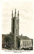 BALTIMORE, RPPC, WESTMINSTER PRESBYTERIAN CHURCH, MARYLAND, VINTAGE POSTCARD
