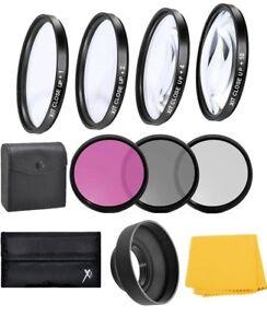58mm Filter Kit UV-CPL-FLD + Macro Close Up +1+2+4+10 Lens Set for Nikon Canon