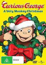 Curious George: A Very Monkey Christmas * NEW DVD * cartoon (Region 4 Australia)
