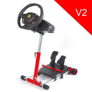 Wheel Stand Pro - Stand for Thrustmaster F458 SPIDER Racing Wheel - RED - V2