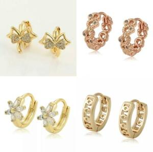 """9K 9ct """"Gold Filled""""Baby Girl Young Girls 10mm-15mm Small Hoop Huggies Earrings"""
