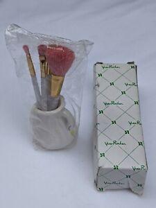vintage 1980's Yves Rocher make up brush set in swan ornament / holder - boxed