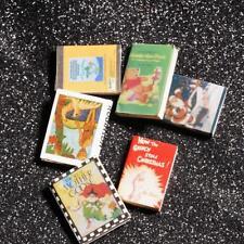 Casa De Muñecas 12 libros Miniatura 1.12 escala titulado