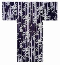 """Japanese 64"""" Men's 100% Cotton Yukata Kimono Lucky Dragon & Bamboo Made in Japan"""