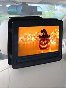 "Rear Car Headrest Mount 9""  Portable DVD Player Holder Case, Swivel N Flip Style"